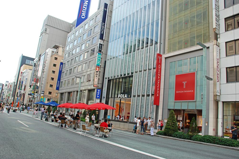 Ginza, la quinta avenidad de Japón.
