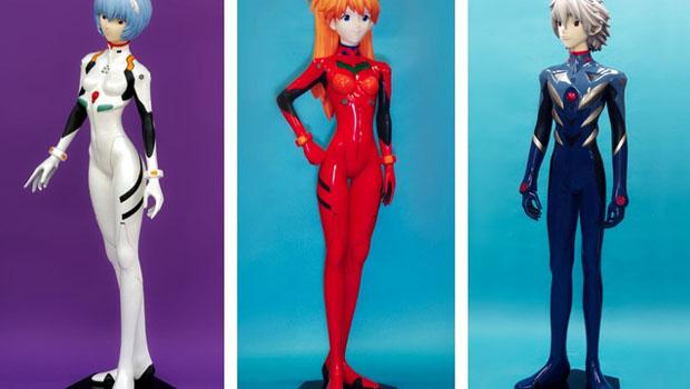 Figuras tamaño real de Evangelion.