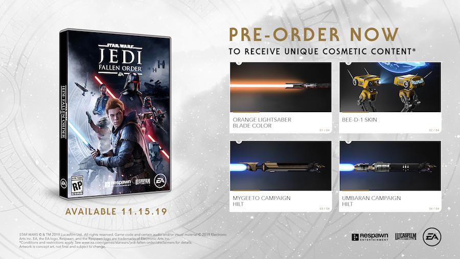 Star Wars Jedi Fallen Order Pre-Order